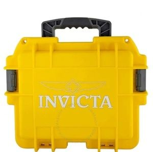INVICTA  3 Slot Watch Case Yellow